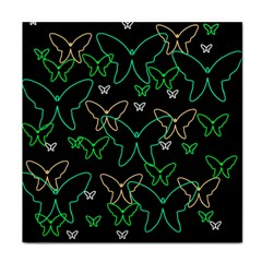 Green Butterflies Tile Coasters by Valentinaart