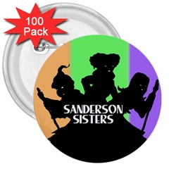 Sanderson Sisters  3  Buttons (100 Pack)  by lvbart