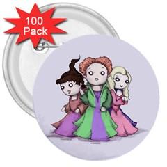 Hocus Pocus Plush 3  Buttons (100 Pack)  by lvbart