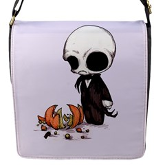 Smashing Pumpkin King  Flap Messenger Bag (s) by lvbart