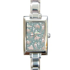 Bear Ruding Unicycle Unique Pop Art All Over Print Rectangle Italian Charm Watch by CraftyLittleNodes