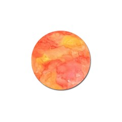 Watercolor Yellow Fall Autumn Real Paint Texture Artists Golf Ball Marker by CraftyLittleNodes