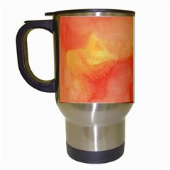 Watercolor Yellow Fall Autumn Real Paint Texture Artists Travel Mugs (white) by CraftyLittleNodes