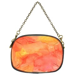 Watercolor Yellow Fall Autumn Real Paint Texture Artists Chain Purses (one Side)