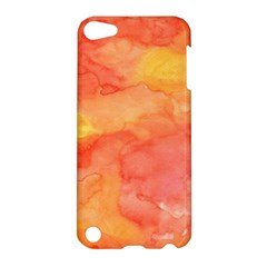 Watercolor Yellow Fall Autumn Real Paint Texture Artists Apple Ipod Touch 5 Hardshell Case by CraftyLittleNodes