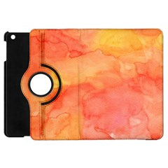 Watercolor Yellow Fall Autumn Real Paint Texture Artists Apple Ipad Mini Flip 360 Case by CraftyLittleNodes