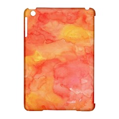 Watercolor Yellow Fall Autumn Real Paint Texture Artists Apple Ipad Mini Hardshell Case (compatible With Smart Cover) by CraftyLittleNodes