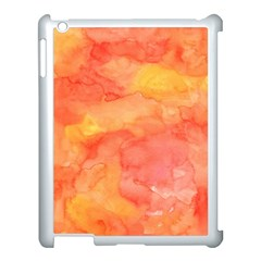 Watercolor Yellow Fall Autumn Real Paint Texture Artists Apple Ipad 3/4 Case (white) by CraftyLittleNodes