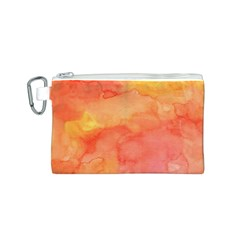Watercolor Yellow Fall Autumn Real Paint Texture Artists Canvas Cosmetic Bag (s) by CraftyLittleNodes