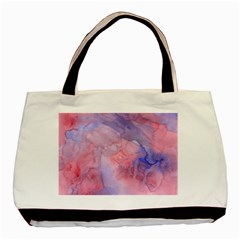 Galaxy Cotton Candy Pink And Blue Watercolor  Basic Tote Bag (two Sides) by CraftyLittleNodes