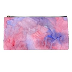 Galaxy Cotton Candy Pink And Blue Watercolor  Pencil Cases by CraftyLittleNodes
