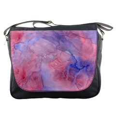 Galaxy Cotton Candy Pink And Blue Watercolor  Messenger Bags