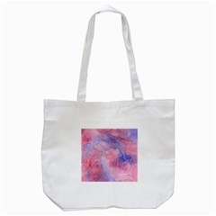 Galaxy Cotton Candy Pink And Blue Watercolor  Tote Bag (white) by CraftyLittleNodes