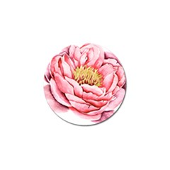 Large Flower Floral Pink Girly Graphic Golf Ball Marker (10 Pack) by CraftyLittleNodes