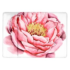 Large Flower Floral Pink Girly Graphic Samsung Galaxy Tab 10 1  P7500 Flip Case by CraftyLittleNodes