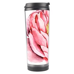 Large Flower Floral Pink Girly Graphic Travel Tumbler by CraftyLittleNodes