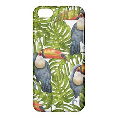 Tropical Print Leaves Birds Toucans Toucan Large Print Apple Iphone 5c Hardshell Case by CraftyLittleNodes