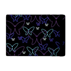 Blue Neon Butterflies Ipad Mini 2 Flip Cases by Valentinaart