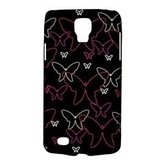 Pink Neon Butterflies Galaxy S4 Active by Valentinaart