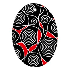 Hypnotic Design Ornament (oval)  by Valentinaart