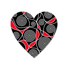 Hypnotic Design Heart Magnet by Valentinaart