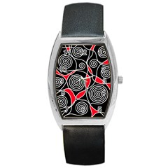 Hypnotic Design Barrel Style Metal Watch by Valentinaart