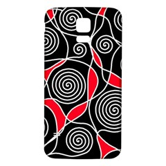 Hypnotic design Samsung Galaxy S5 Back Case (White) by Valentinaart