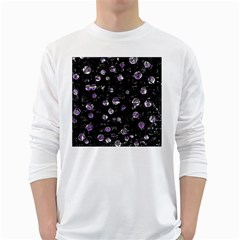 Purple Soul White Long Sleeve T Shirts by Valentinaart