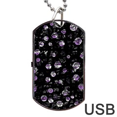Purple Soul Dog Tag Usb Flash (two Sides)  by Valentinaart