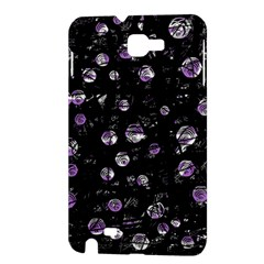 Purple soul Samsung Galaxy Note 1 Hardshell Case by Valentinaart