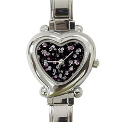 Purple Soul Heart Italian Charm Watch by Valentinaart