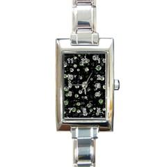 Green Soul  Rectangle Italian Charm Watch by Valentinaart