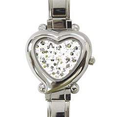 White And Yellow Soul Heart Italian Charm Watch by Valentinaart