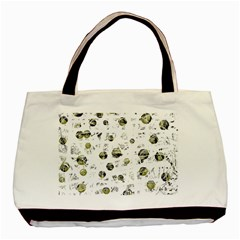White And Yellow Soul Basic Tote Bag by Valentinaart