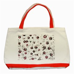 White And Red Soul Classic Tote Bag (red) by Valentinaart