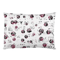 White And Red Soul Pillow Case by Valentinaart