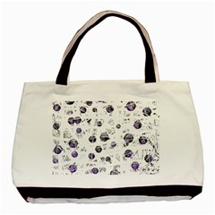 White And Blue Soul Basic Tote Bag (two Sides) by Valentinaart