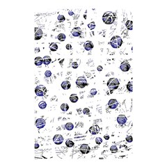 White And Deep Blue Soul Shower Curtain 48  X 72  (small)  by Valentinaart
