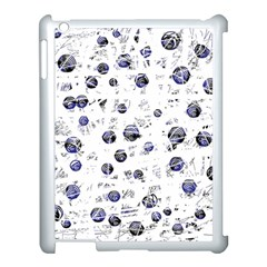 White And Deep Blue Soul Apple Ipad 3/4 Case (white) by Valentinaart