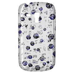 White And Deep Blue Soul Samsung Galaxy S3 Mini I8190 Hardshell Case by Valentinaart