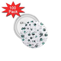 White And Green Soul 1 75  Buttons (100 Pack)  by Valentinaart