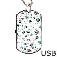 White And Green Soul Dog Tag Usb Flash (two Sides)  by Valentinaart
