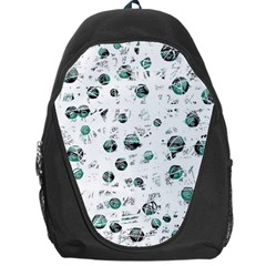 White And Green Soul Backpack Bag by Valentinaart