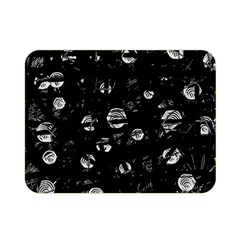 Black And Gray Soul Double Sided Flano Blanket (mini)  by Valentinaart