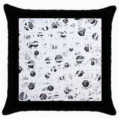 White And Gray Soul Throw Pillow Case (black) by Valentinaart