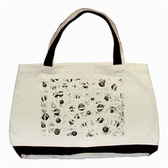 White and gray soul Basic Tote Bag (Two Sides)
