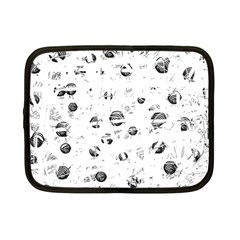 White And Gray Soul Netbook Case (small)  by Valentinaart