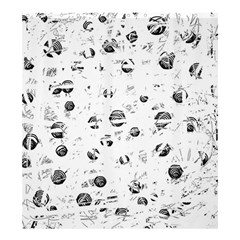 White And Gray Soul Shower Curtain 66  X 72  (large)  by Valentinaart