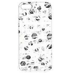 White And Gray Soul Apple Iphone 5 Hardshell Case With Stand by Valentinaart