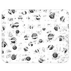 White And Gray Soul Double Sided Flano Blanket (medium)  by Valentinaart